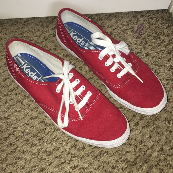 Keds Shoes | Red Keds Sneakers | Poshmark
